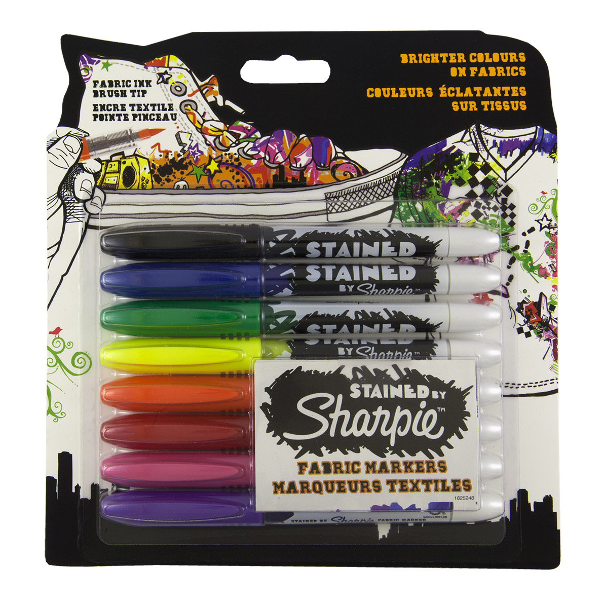 sharpie stained fabric markers 8set brush tip markersnpens com