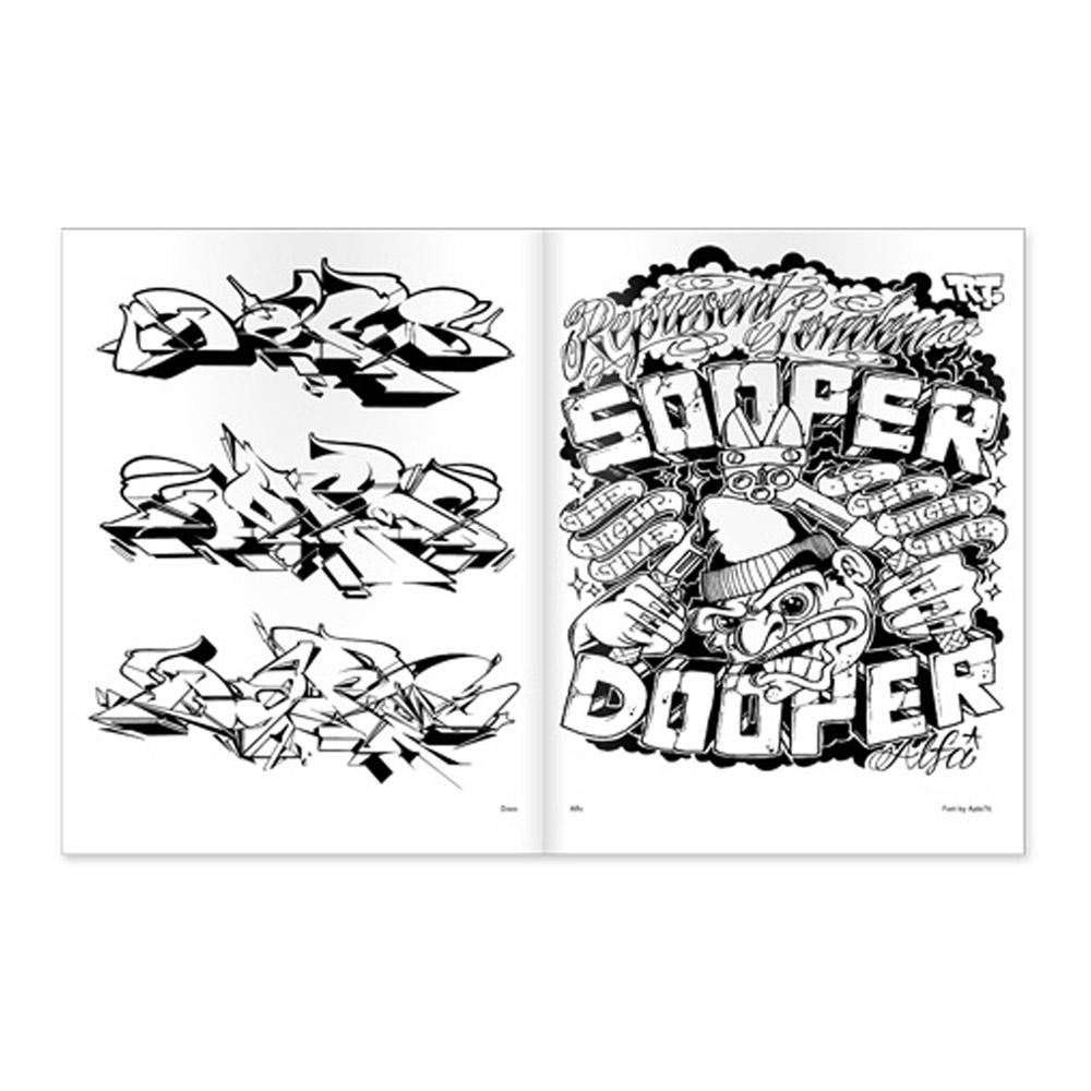 Graffiti Coloring Book #3 – Markersnpens.com