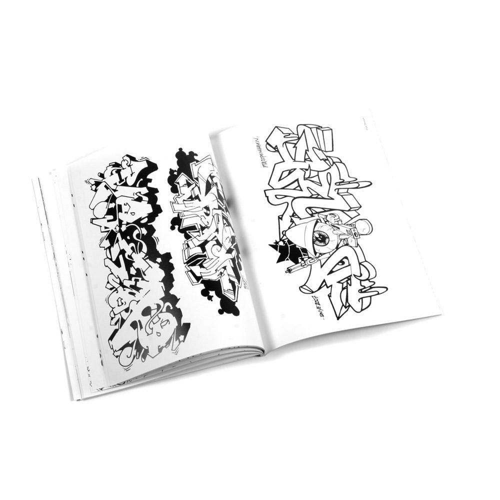 Graffiti Coloring Book – Markersnpens.com