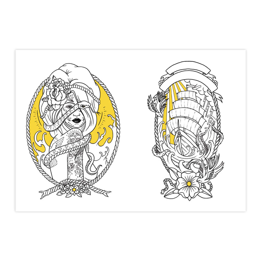 The tattoo coloring book megamunden - Tattoo Colouring Book 1