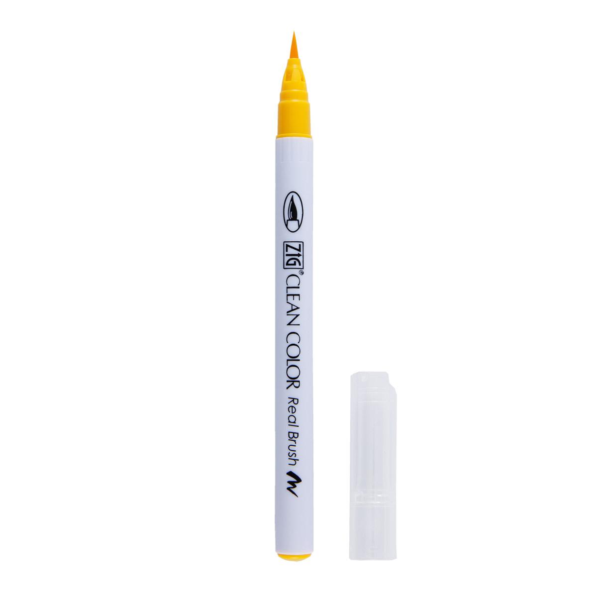 Kuretake ZIG Clean Color Real Brush Marker-Yellow Green